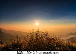 Sunrise landscape in nature