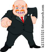 angry boss (businessman)