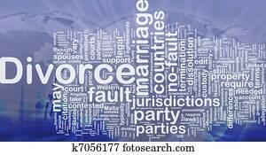 Divorce background concept