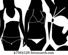 frauen, bikini