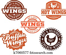 Hot Chicken Wing Graphics