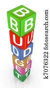 3d text cubes budget