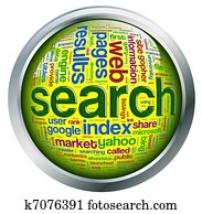 Search engine wordcloud