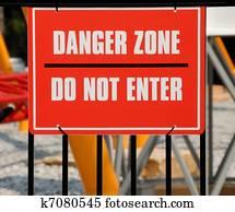 Danger Zone Sign