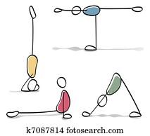 Figure Di Persone Stilizzate.Yoga Archivio Illustrazioni 9 311 Yoga Oltre 15 Produttori Di