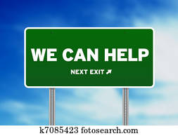 Green Road Sign - We can help