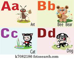 tier, alphabet, a,b,c,d.