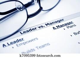 Leader vs. manager