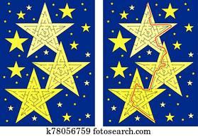 Stars maze