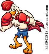 boxer, huhn
