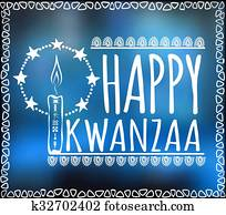 Festival Kwanzaa. Holiday card