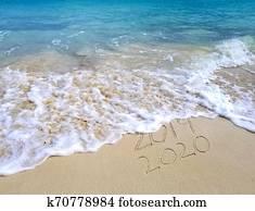 New Year 2020 ocean seashore