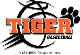 tiger basketball design