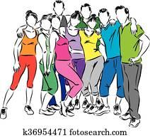 gesundheit, personengruppe, abbildung