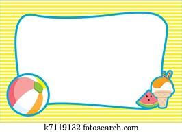 Illustrated Summer Beach Invite/Frame