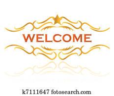 welcome sign design illustration