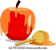 Apple And Honey For Rosh Hashanah