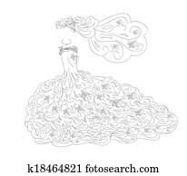 heiraten kleid, kunst
