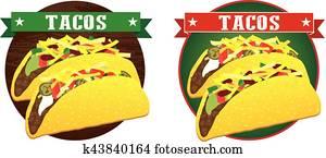 mexican taco banner vector