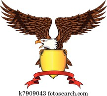 Eagle with shield