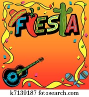 Mexican Fiesta Party Invitation