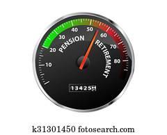 Pension Speedometer