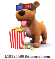 3d Puppy at the movies