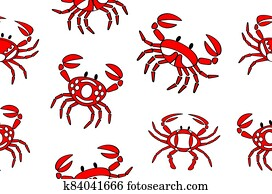crabs seamless textile pattern