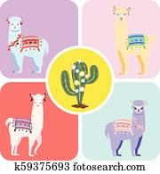 Llama and Alpaca greetings