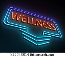 Wellness neon concept.