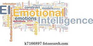 Emotional intelligence background concept