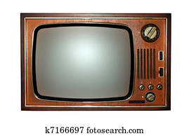 Old television, tv