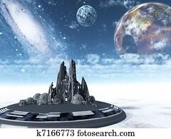 Spaceship town