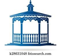 Wedding gazebo logo