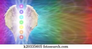 Angel Chakra Wings Banner