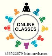 Online classes icon