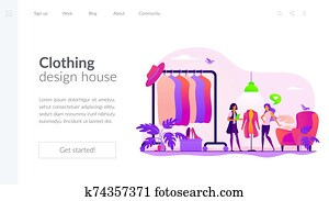 Fashion house landing page template
