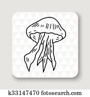 Jellyfish doodle