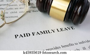 Page with title Paid family leave.