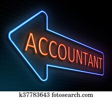 Accountant sign concept.