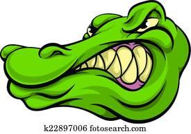 Alligator or crocodile mascot