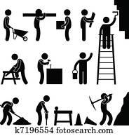 arbeitende, aufbau, zwangsarbeit