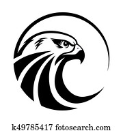 Eagle head logo Template, Hawk mascot graphic, Portrait of a bald eagle, vector