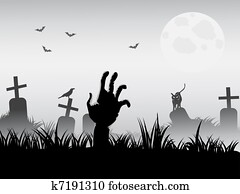 zombie waking
