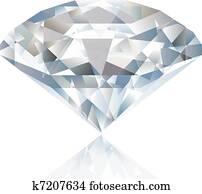 A Shiny bright diamond. Vector
