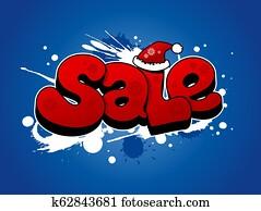 Christmas sale illustration.