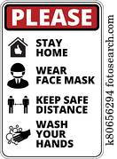 Covid-19 Danger Signs Set
