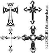 four black cross