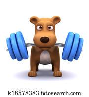 3d Dog powerlifter