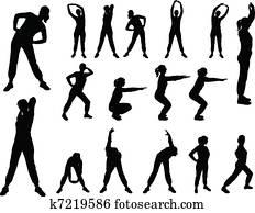 aerobics girl 4 - vector